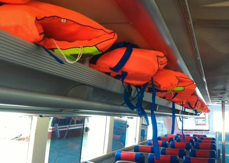 life jacket, safety equipment, lembongan fast boat, lembongan transfer
